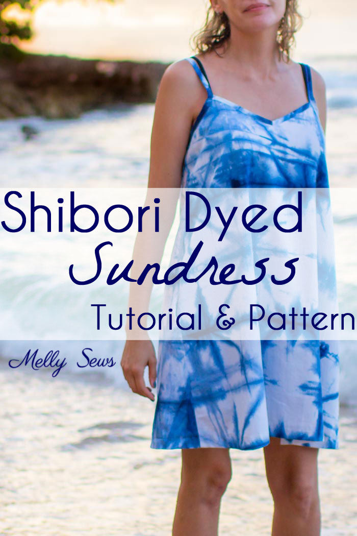 Video tutorial and pattern: Shibori dyed sundress