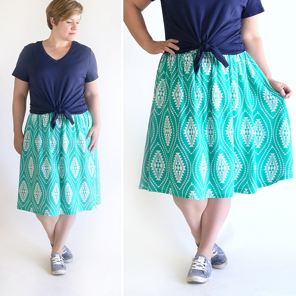 Tutorial: Flat front gathered skirt