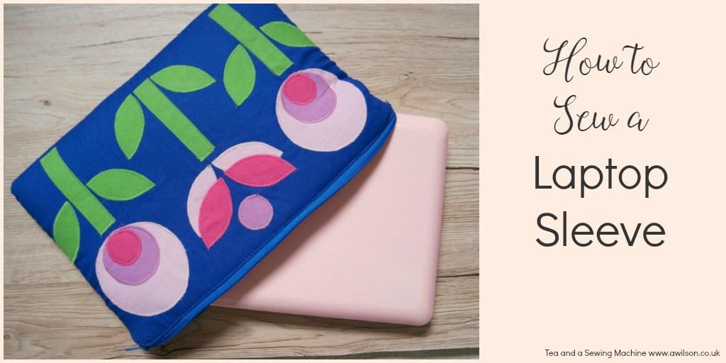 Tutorial: Mod flower applique laptop sleeve