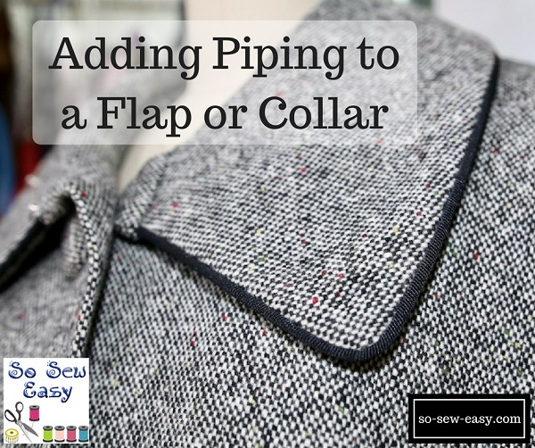 Tutorial: Easy method for sewing piping