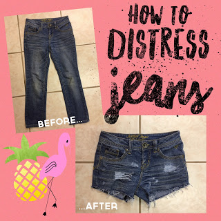 Tutorial: How to distress denim