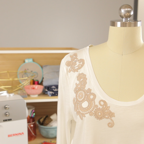 Tutorial: Lace applique t-shirt