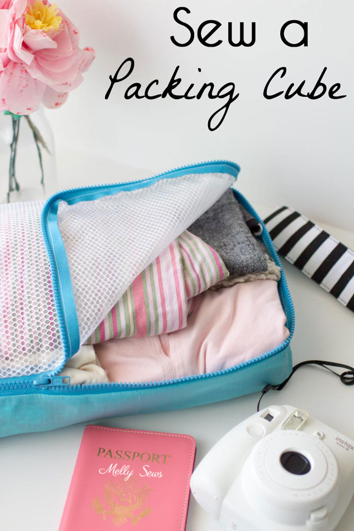 Tutorial: DIY packing cubes to organize your suitcase