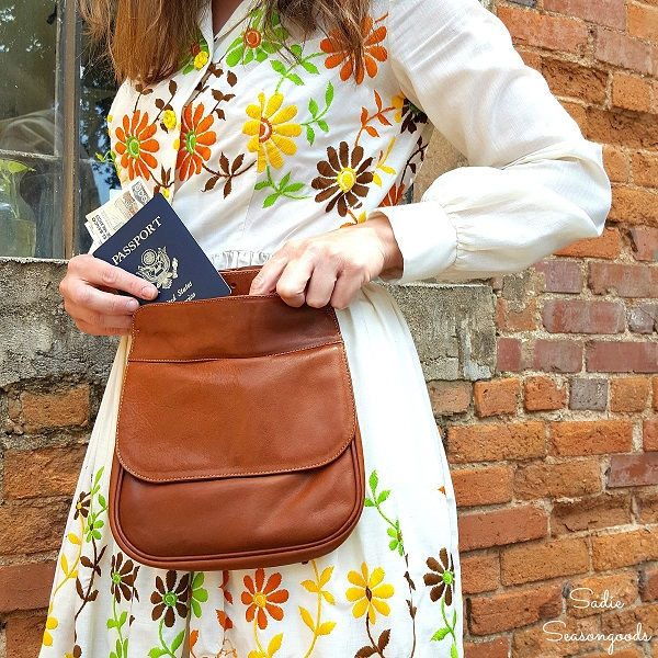 Tutorial Hands Free Hip Bag From A Thrift Store Purse
