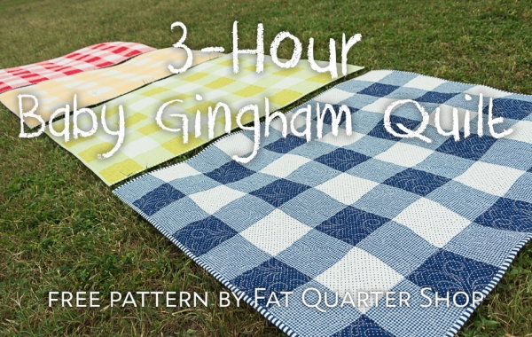 Tutorial and pattern: Gingham baby quilt