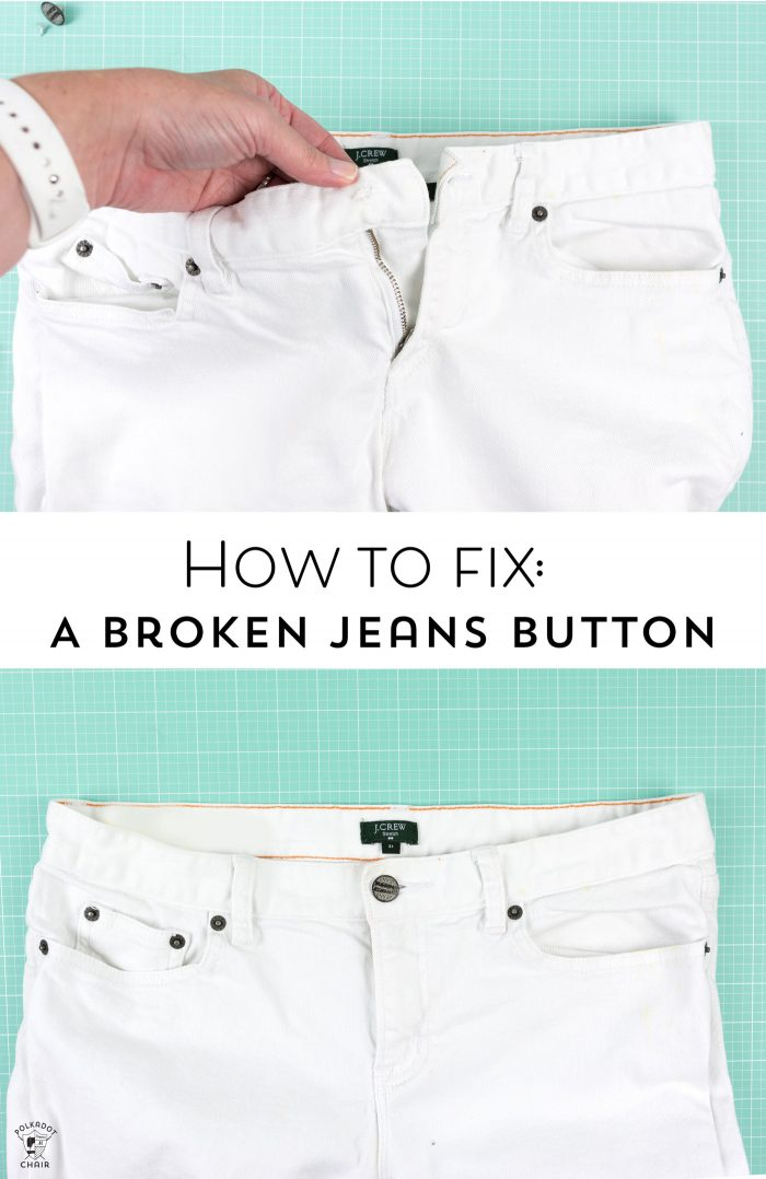Tutorial: Fixing a broken jeans button