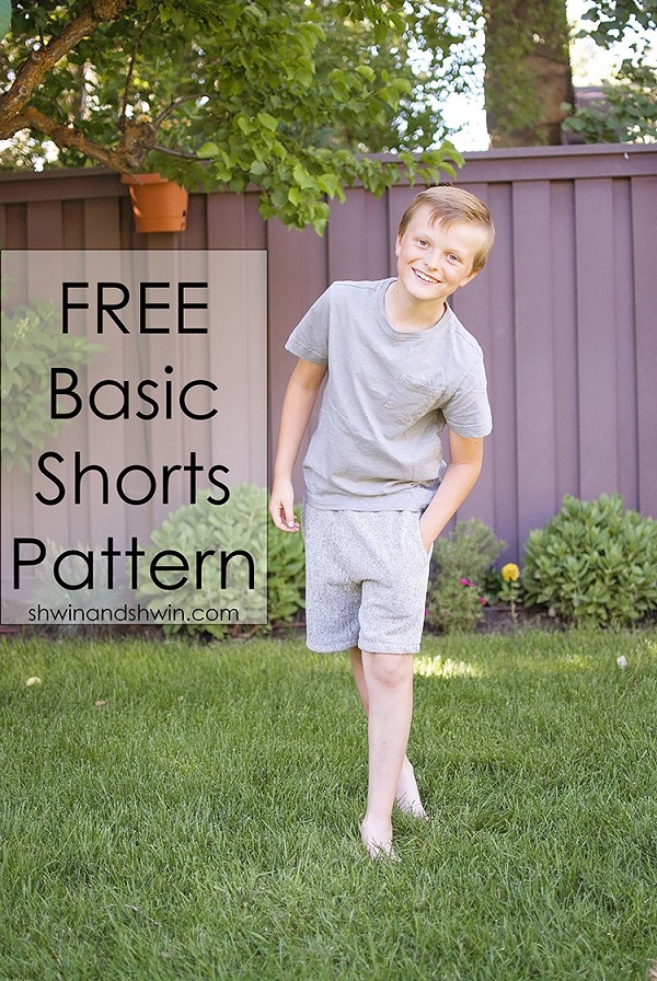 Tutorial and pattern: Boys basic shorts