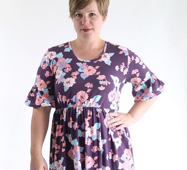 Tutorial: Ruffle sleeve dress