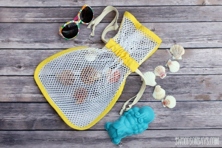 Tutorial: Sew a mesh bag for collecting seashells