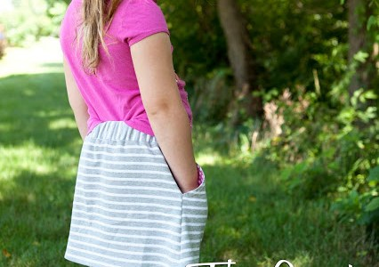Tutorial and pattern: Girls sporty skirt
