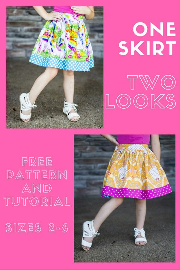 Tutorial: Little girl's reversible twirly skirt