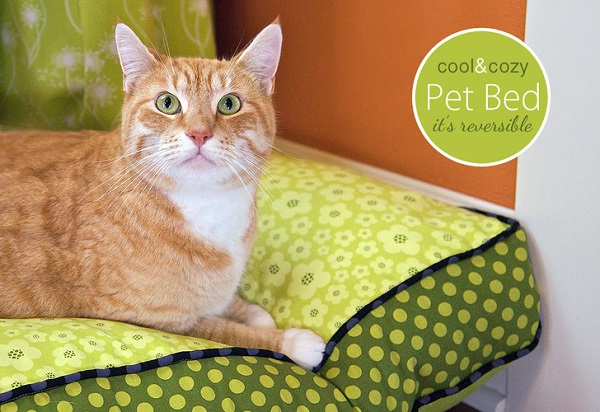 Tutorial: Reversible pet bed with removable cover
