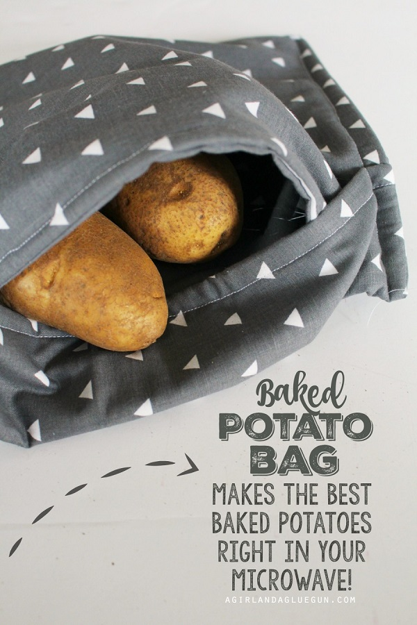 Microwave Potato Bag Pattern : microwave, potato, pattern, Tutorial:, Microwave, Potato, Sewing
