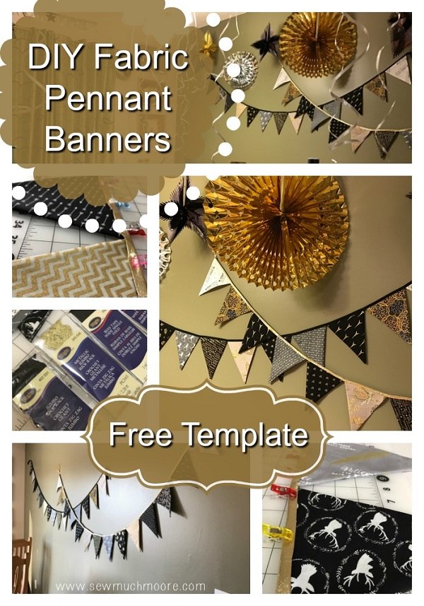Tutorial: Easy pennant banner for holiday decorating