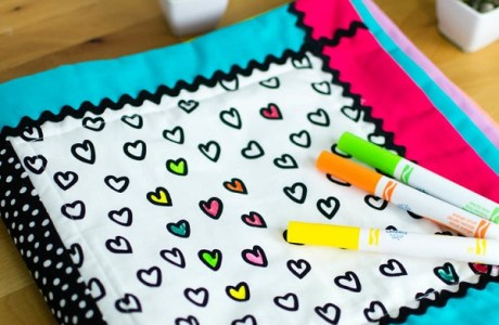 Tutorial: Reusable washable coloring book