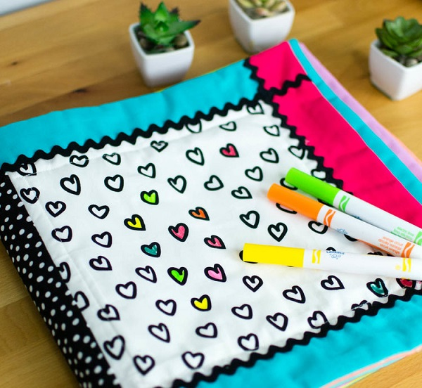 Tutorial Reusable Washable Coloring Book