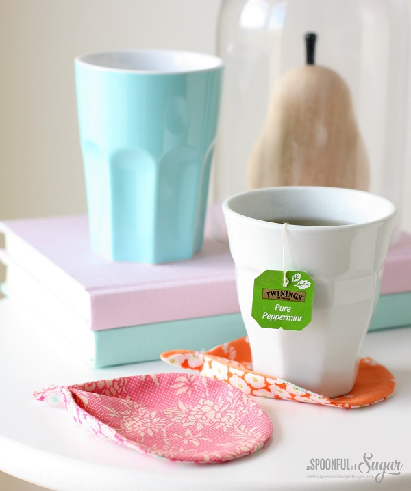 Tutorial and pattern: Fabric leaf coasters