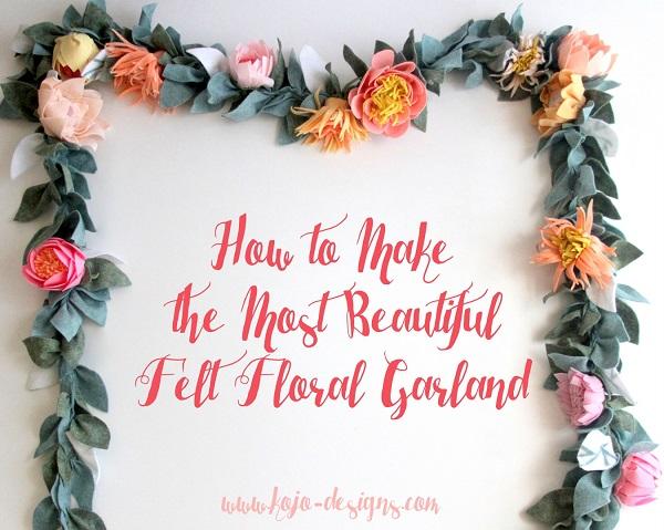 Tutorial Gorgeous felt flower garland