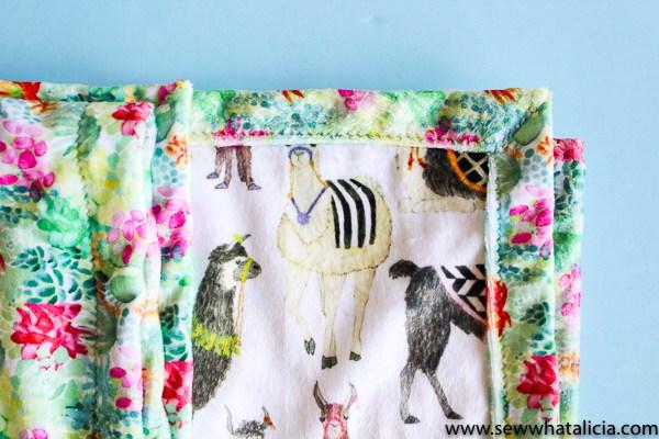 Tutorial: Minky baby blanket made easy