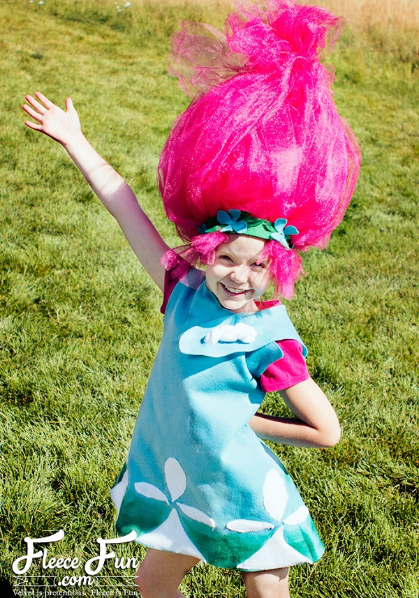 Tutorial And Pattern Trolls Princess Poppy Costume Sewing