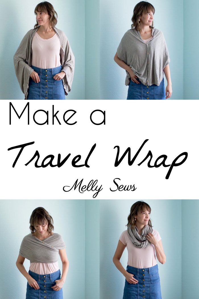 Tutorial: Sew a convertible travel wrap