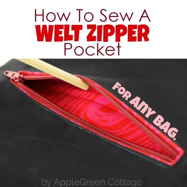 Tutorial: Welt zipper pocket
