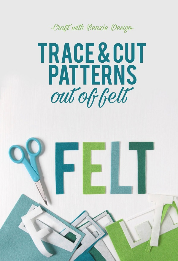 Tutorial How to trace and cut designs from felt