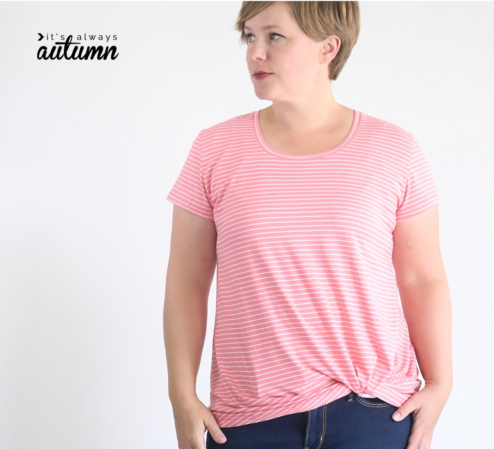 Tutorial and pattern: Twist knot t-shirt