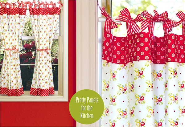 Tutorial: Ribbon tie kitchen curtains
