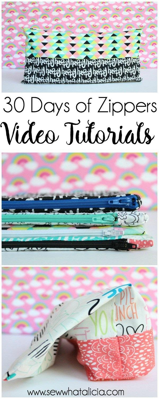 30 days of zipper sewing videos