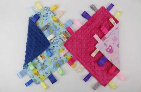 Tutorial: Ribbon tag lovey toy for baby