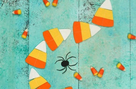 Tutorial: Felt candy corn Halloween garland