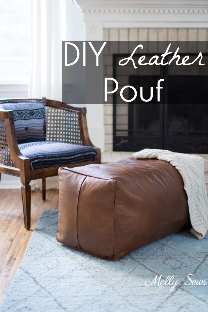 Tutorial: DIY leather ottoman