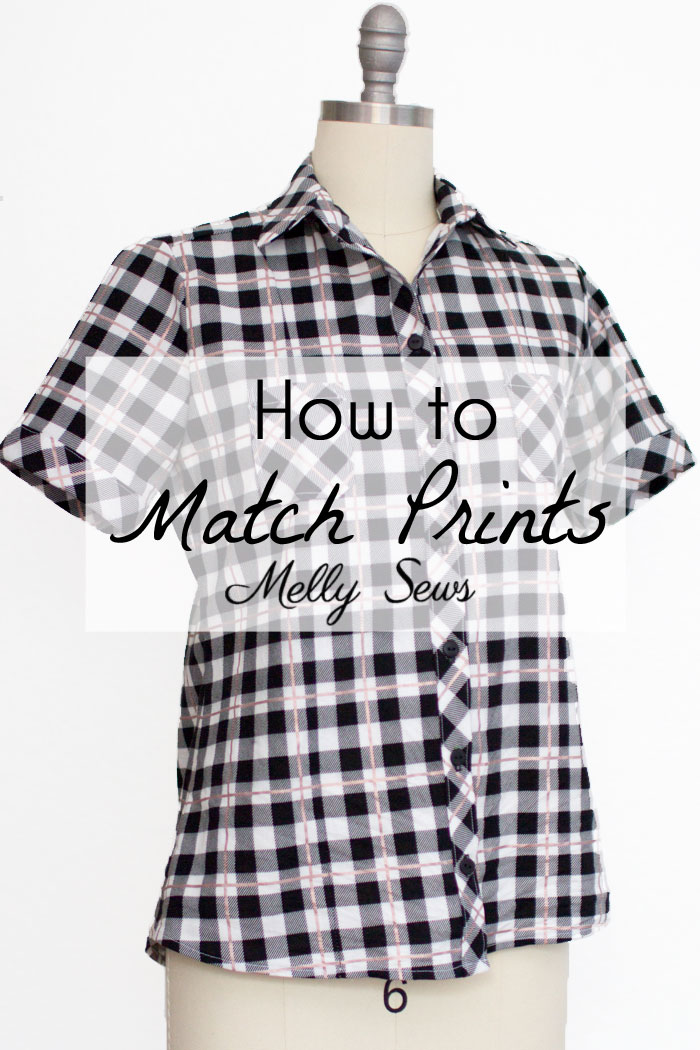 Tutorial: Matching stripes and prints when sewing your own clothes