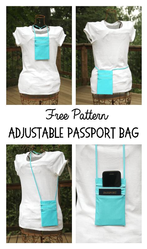 Tutorial: Adjustable passport travel bag