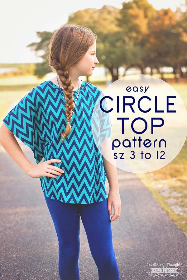 Tutorial and pattern: Girls circle top