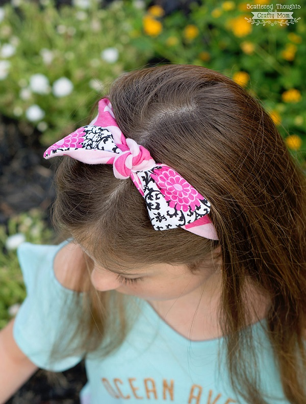 Tutorial: Easy knotted knit fabric headband