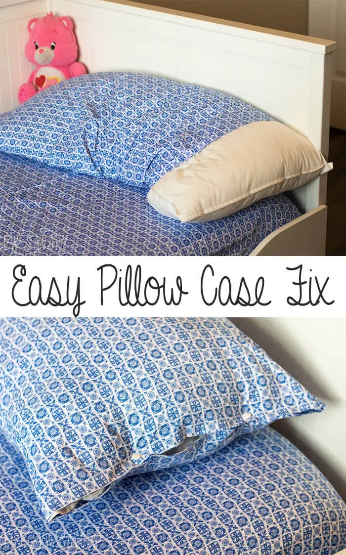 Tutorial: Easy fix to a keep your pillow inside its pillowcase