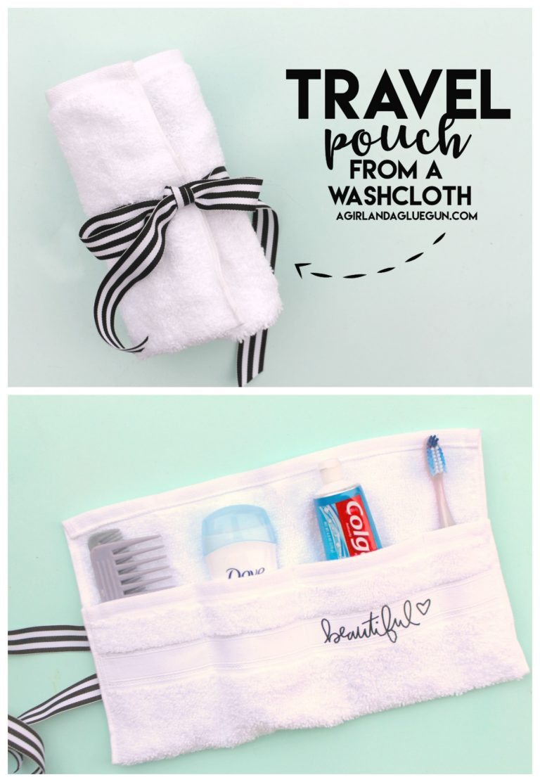 Tutorial: Easy travel organizer pouch from a washcloth