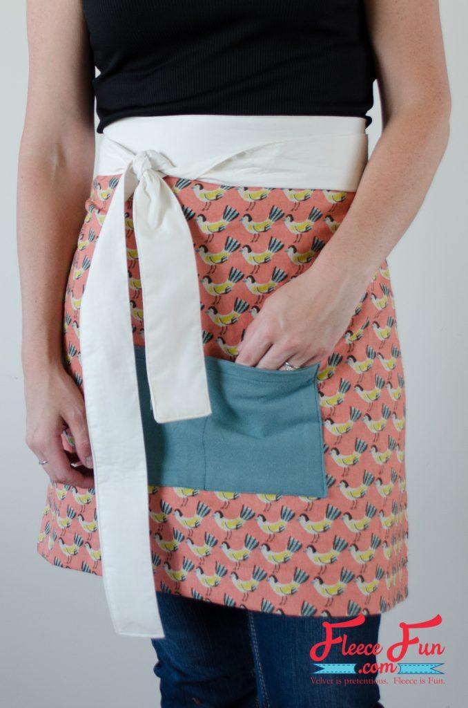Tutorial: Easy half apron hostess gift