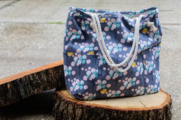 Tutorial: Rope handle shopping tote