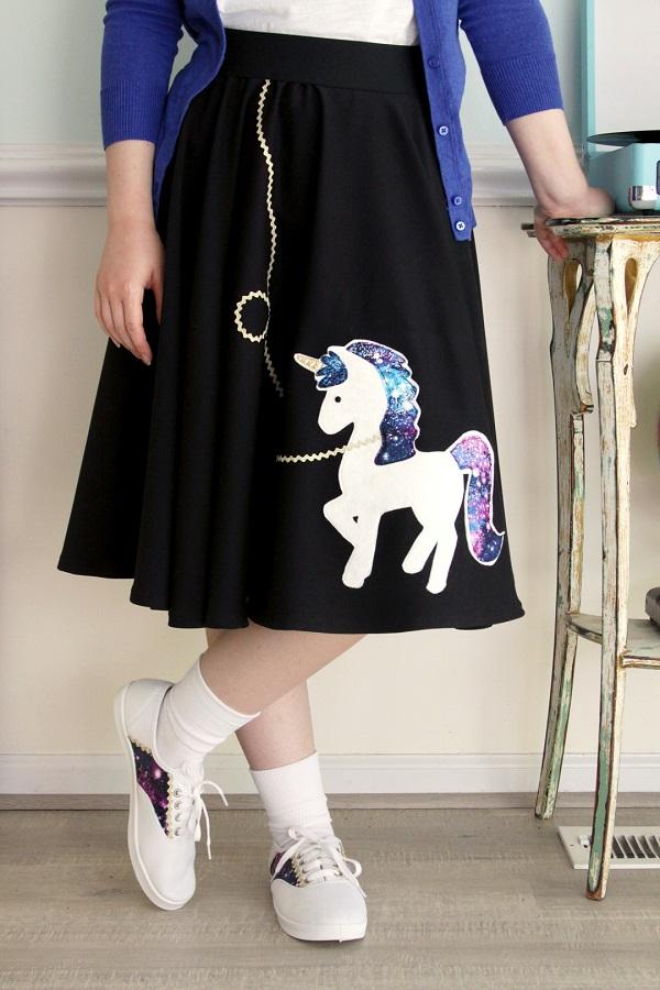 Tutorial: Unicorn fifties costume skirt