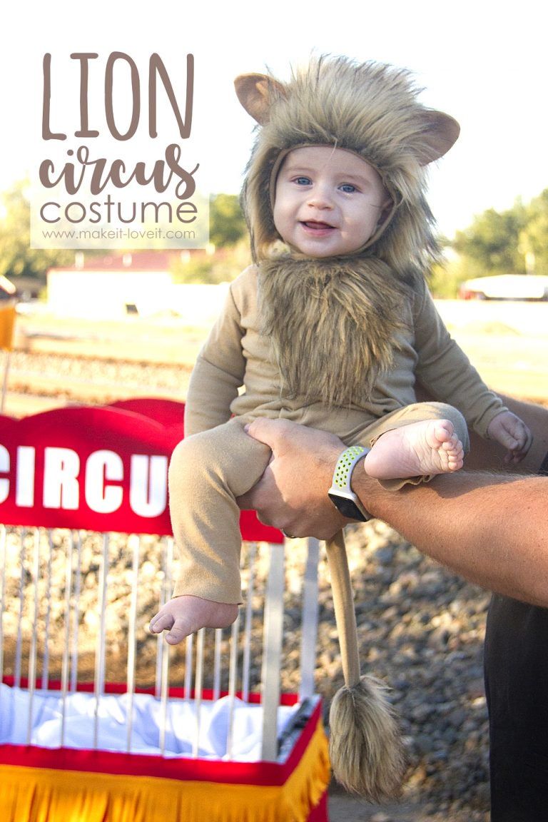 Tutorial Circus Lion Halloween Costume For Baby Sewing