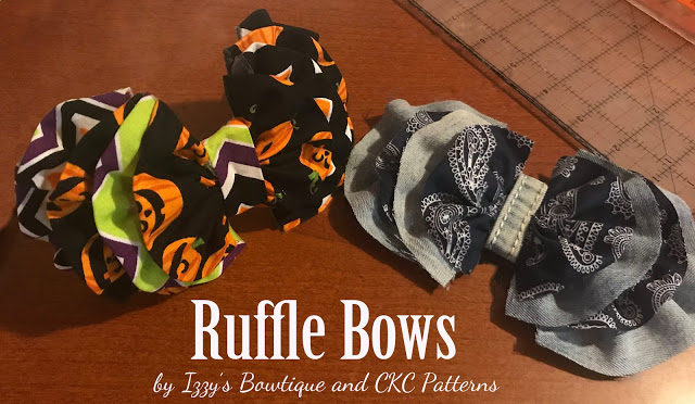 Tutorial: Layered ruffle fabric bow