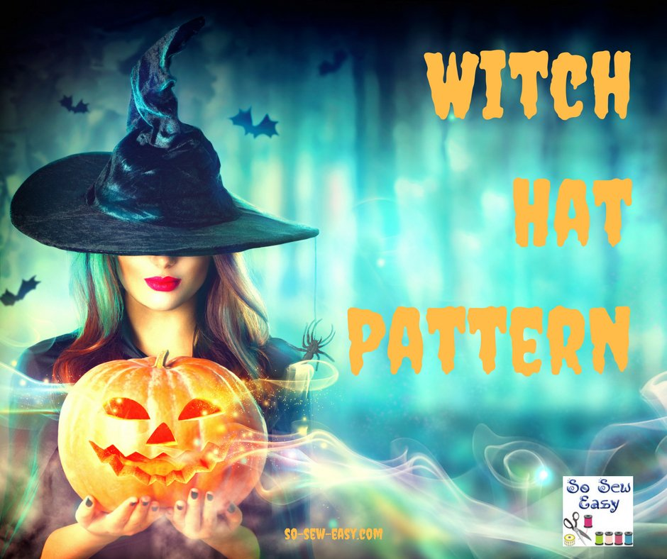 Tutorial and pattern: Classic witch hat
