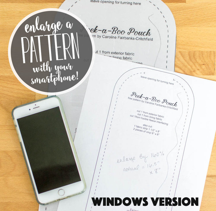 Tutorial: Enlarge a pattern using a smart phone