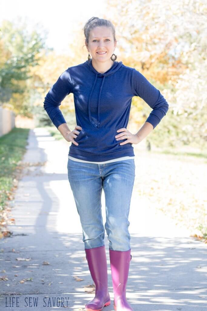 Tutorial and pattern: Women's hoodie