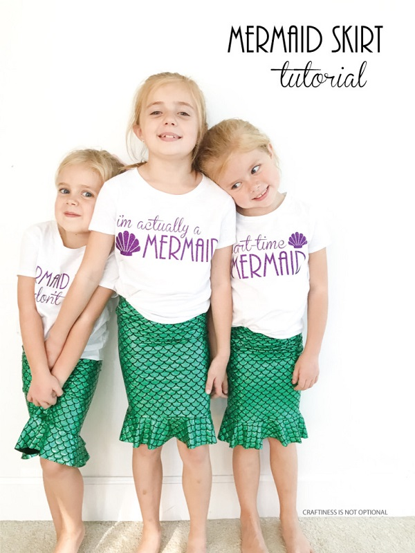 Tutorial: Easy mermaid skirt for kid costumes or dress-up