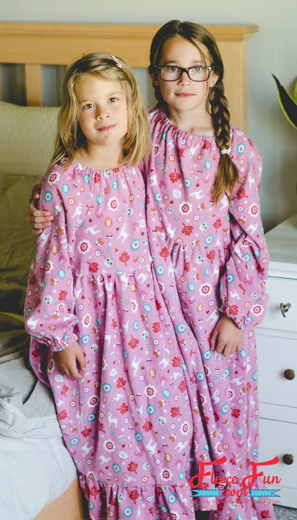 Tutorial and pattern: Girls flannel nightgown