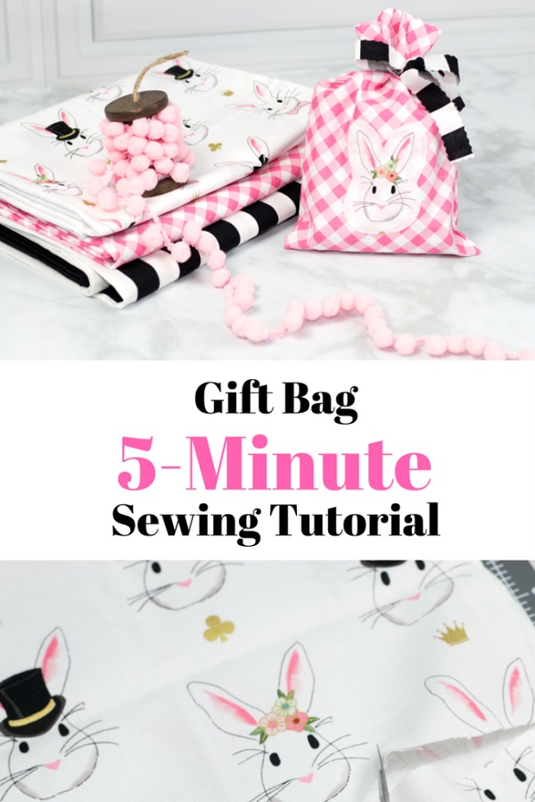 Tutorial: Quick easy sew fabric gift bag